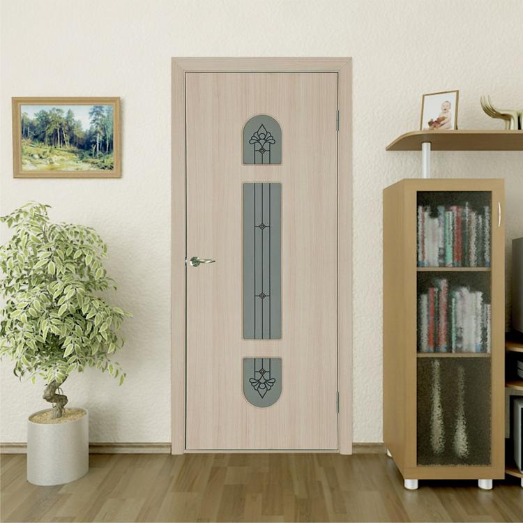Дверь белый дуб в интерьере